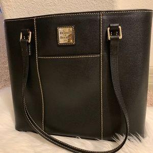 Pebble Grain Small Lexington Shopper black bag